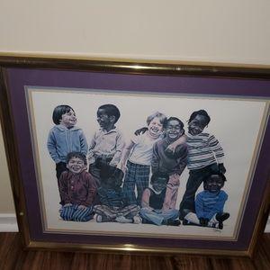 Framed Picture - Diversity Multi-cultural Children